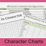 Character Charts To Encourage Growth
