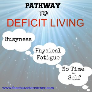 Pathway to deficit living