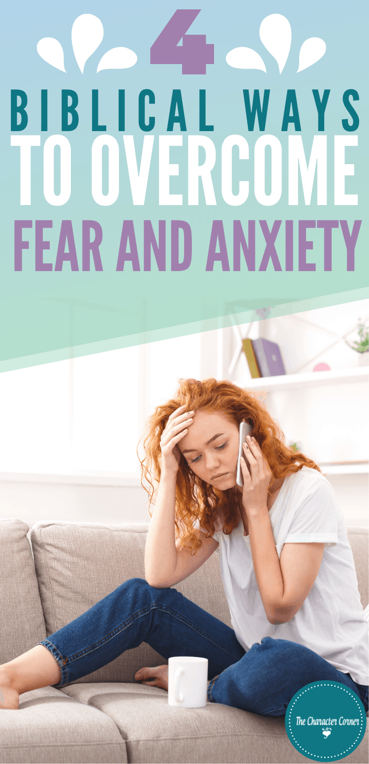 Stressed woman on phone 4 Biblical Ways to Overcome Fear and Anxiety
