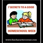 7 Secrets to a Good School Week