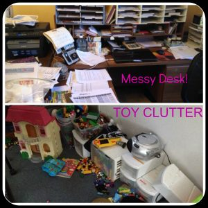 31 Day Declutter - desk & porch mess