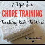 7 Tips for Chore Training