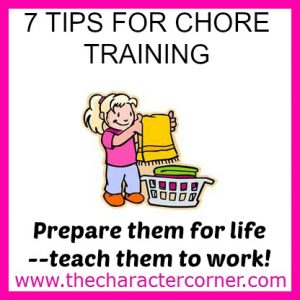 7 tips for chore training