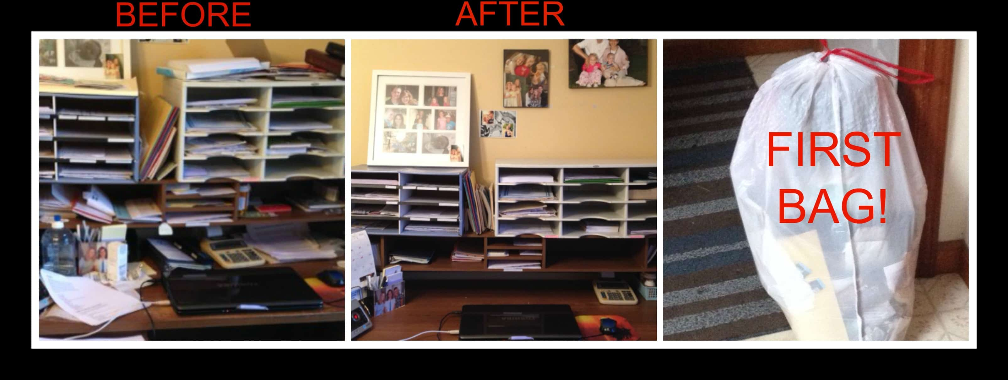 7 tips to help declutter your home the character corner - Declutter before and after ...