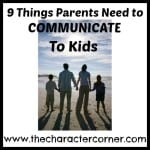 9 Things to communicate to kids
