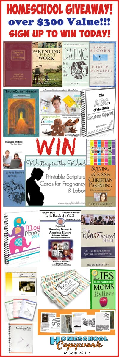 60 Homeschooling Tips from 60 Years Grand Prize Giveaway