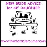 New Bride Advice For My Daughter