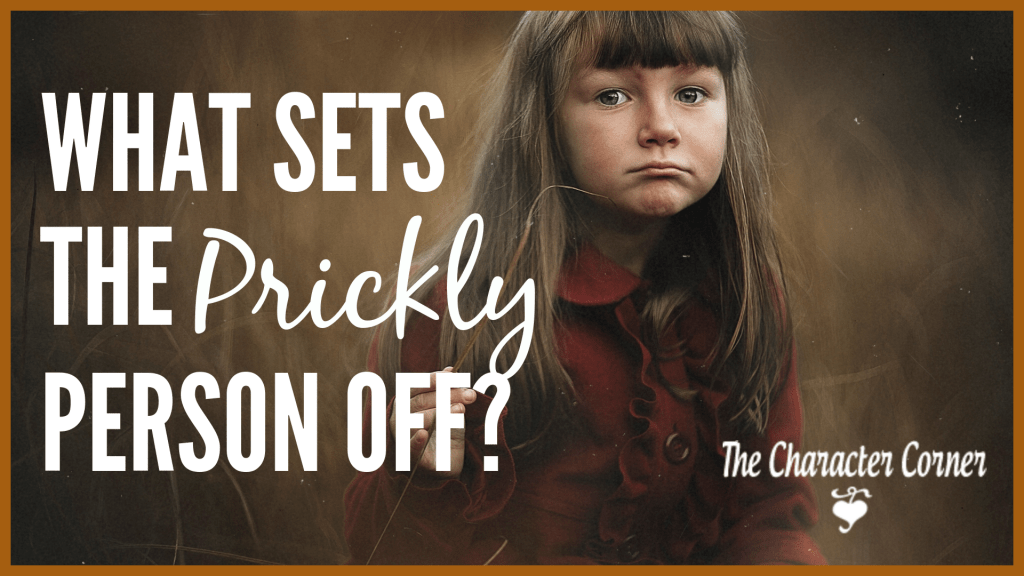 What sets the prickly person off