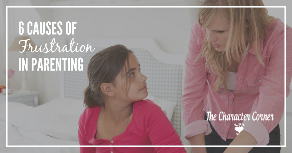 Causes of frustration in parenting