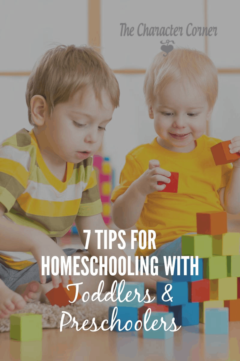 Homeschooling with toddlers and preschoolers can be challenging, but it IS possible! Here are some tips to make it easier.