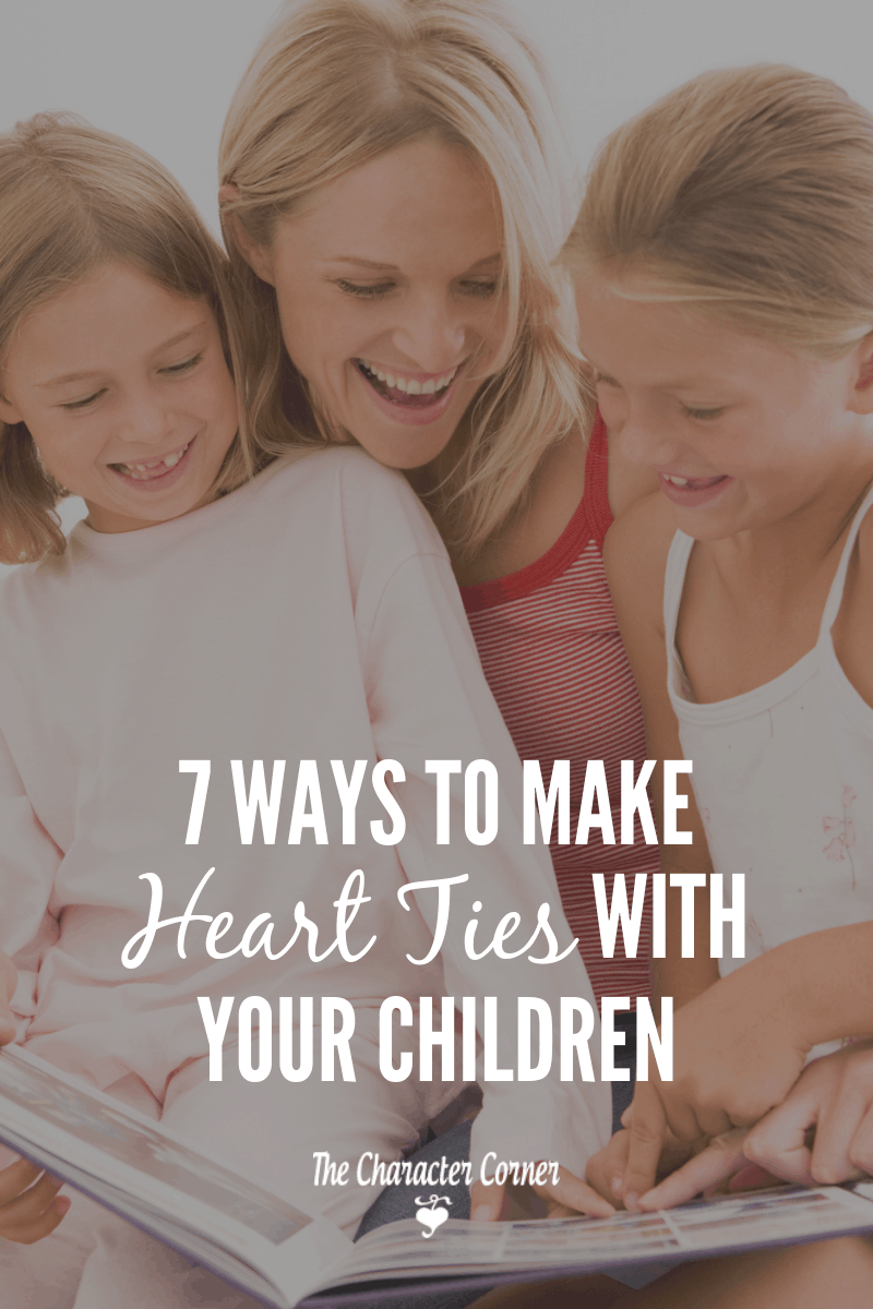 ways to make heart ties with your children
