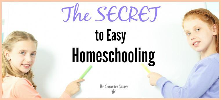 Secret to easy homeschooling