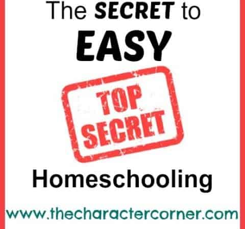 The SECRET To Easy Homeschooling