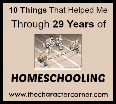 10 things that helped me homeschool for 29 years