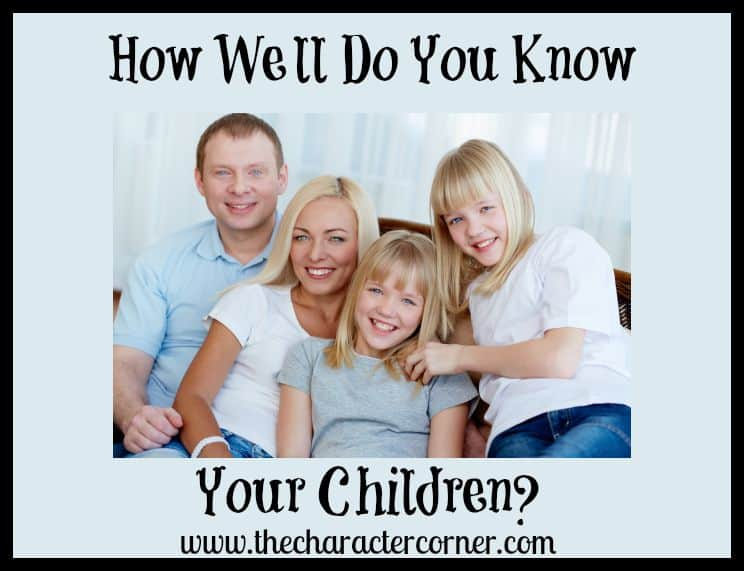 know your kids well?
