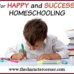Happy & Successful Homeschooling