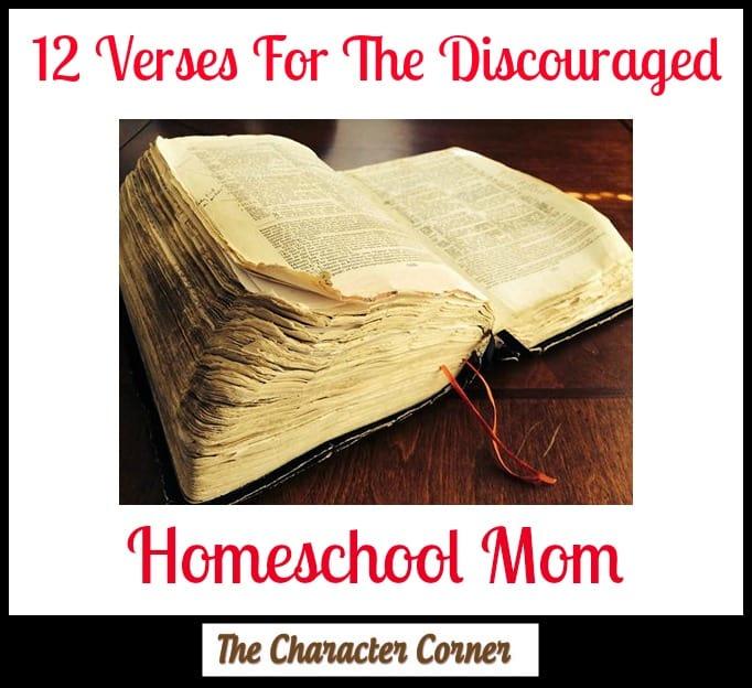 verses for discouraged homeschool mom