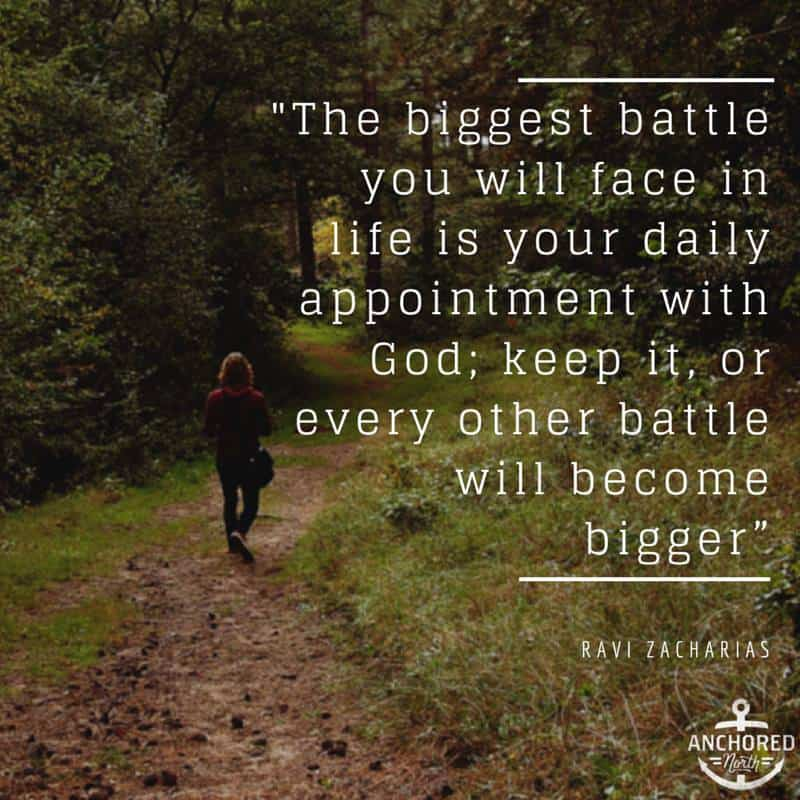 battle to spend time with God daily
