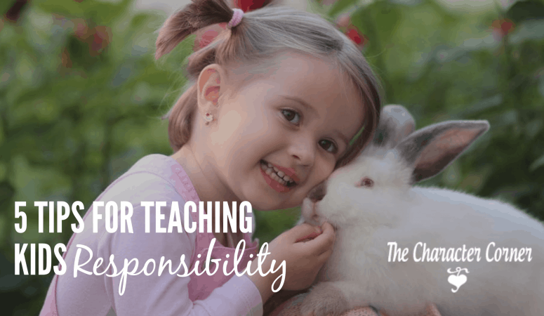 5 Tips For Teaching Kids Responsibility ( & Free Chore Chart)