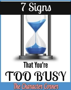 7 Signs That You're Too Busy