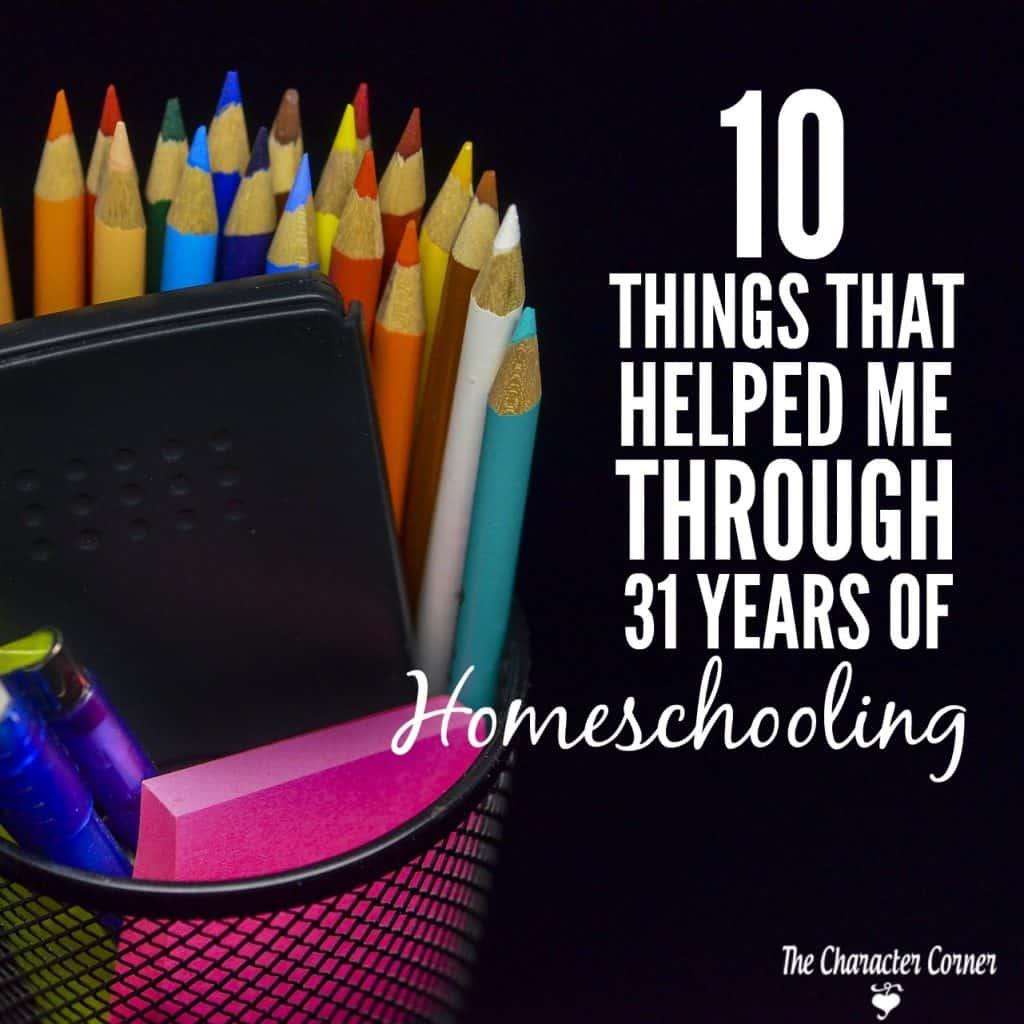 things that helped me through 31 years of homeschool