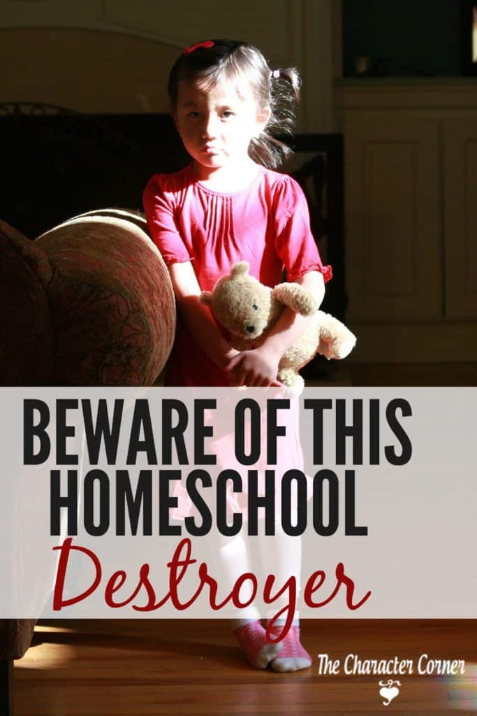 Anger destroys your homeschool