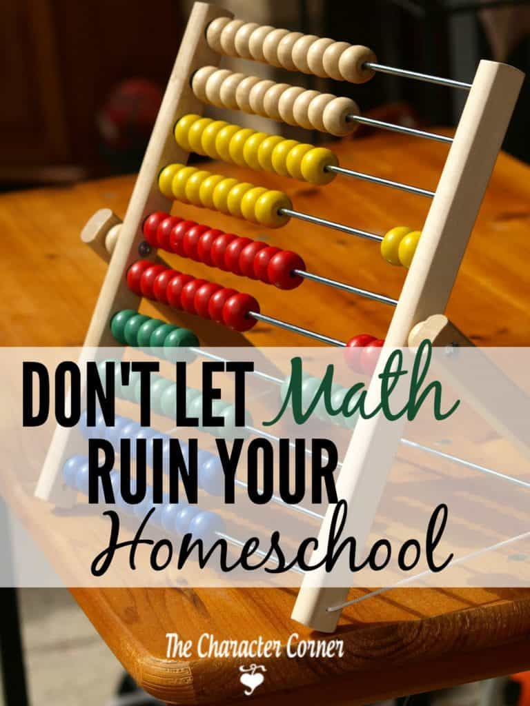 don't let math ruin your homeschool day