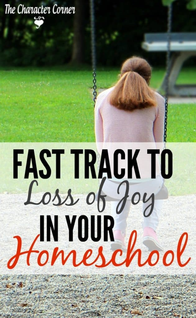 loss of joy in your homeschool