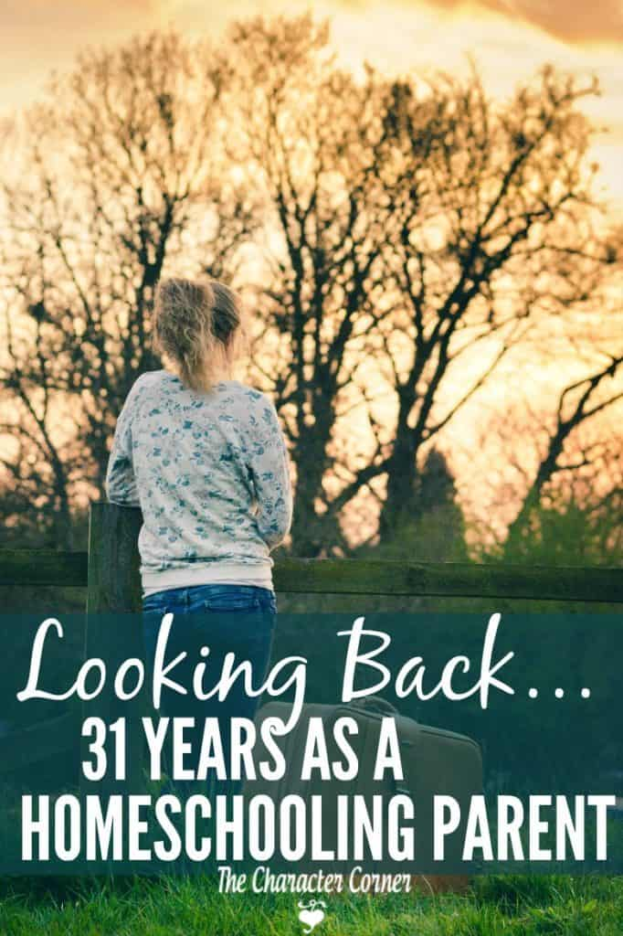 31 years as homeschooling parent