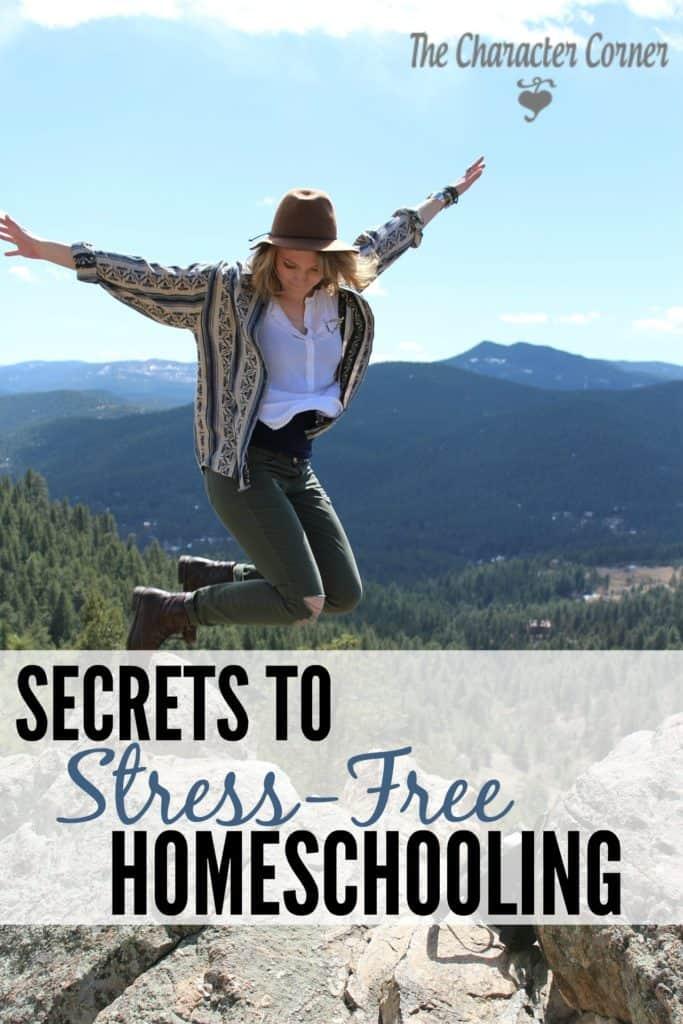 Secrets to Stress Free Homeschooling