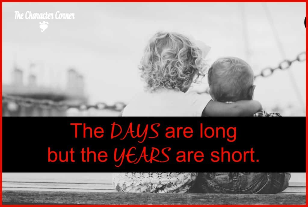 days are long, but years are short