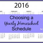 Choosing a Yearly Homeschool Schedule