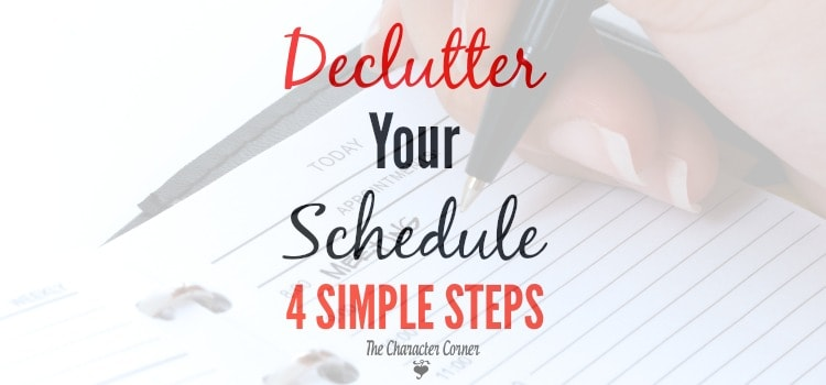 declutter your schedule