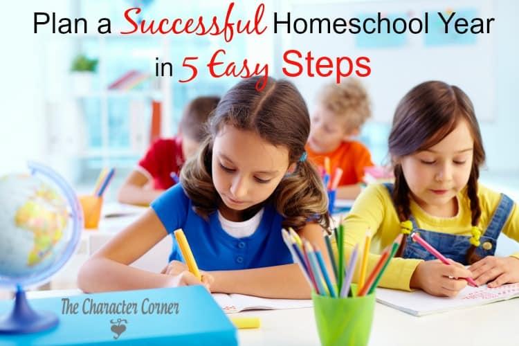 Plan successful homeschool year