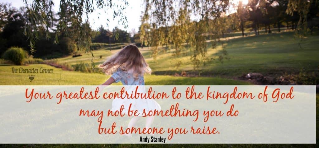 greatest contribution to kingdom