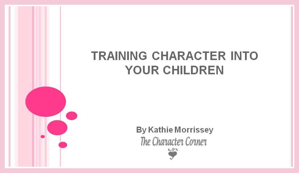 Webinar - Character training