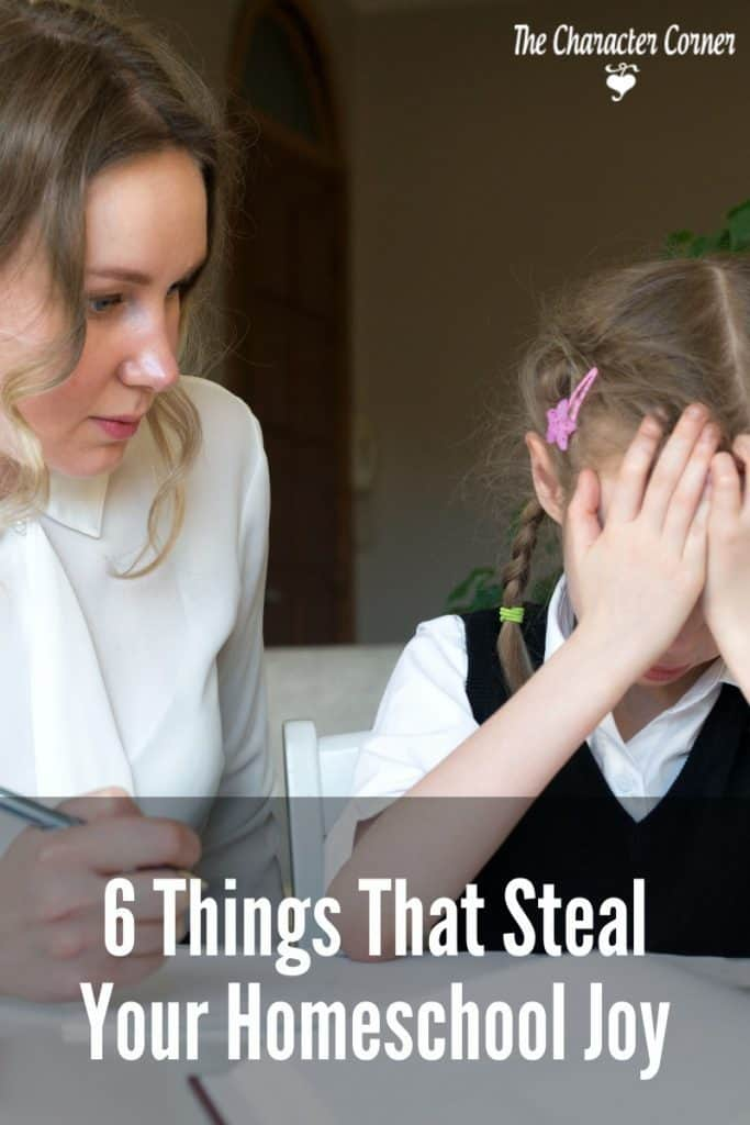 things that steal your homeschooling joy