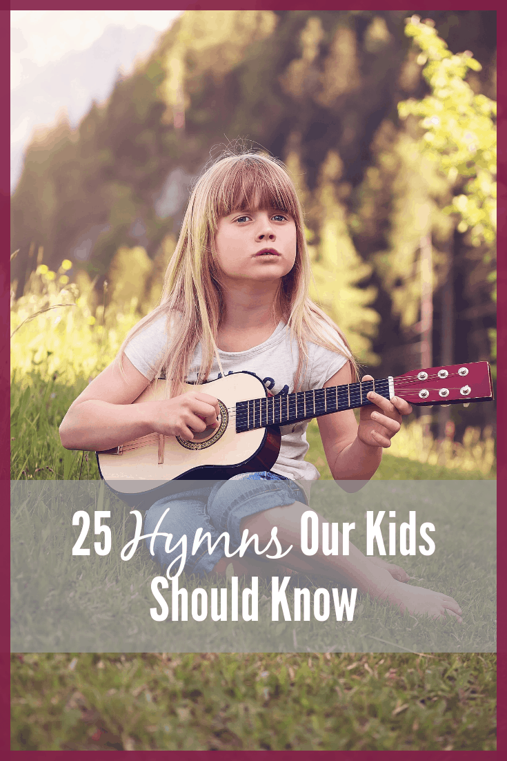 Girl Playing Ukulele 25 Hymns Our Kids Should Know The Character Corner
