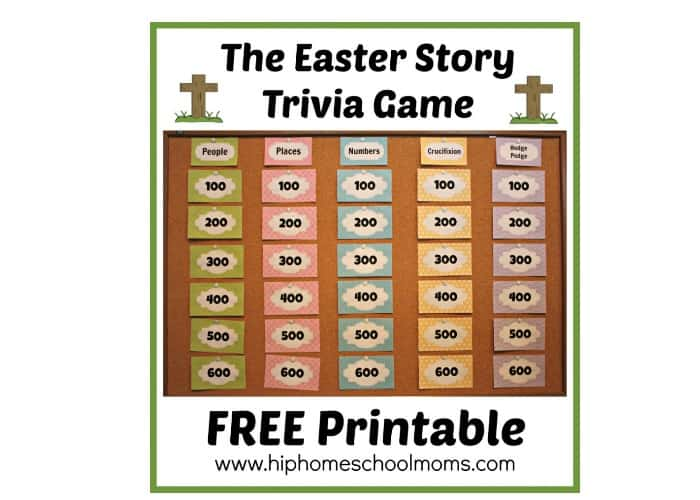 picture about Easter Trivia Printable named 7 Resurrection Targeted Easter Options - The Identity Corner
