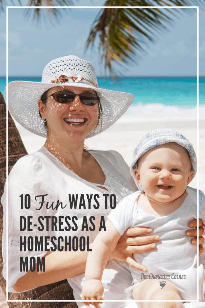ways to de-stress as a homeschool mom