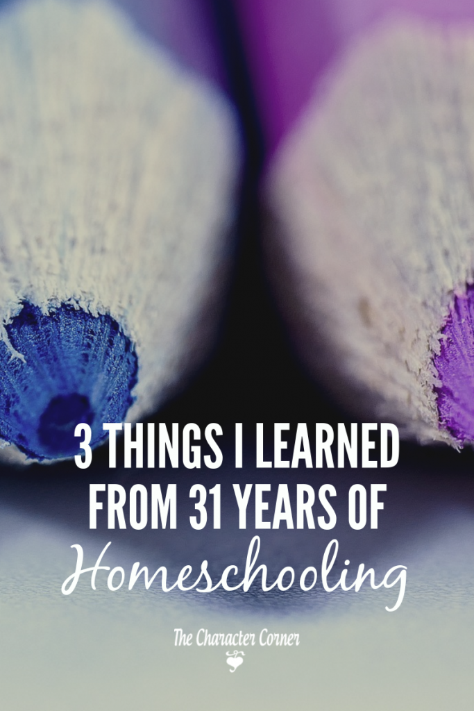 things I learned from 31 years of homeschooling