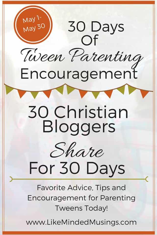 30 days of tween parenting