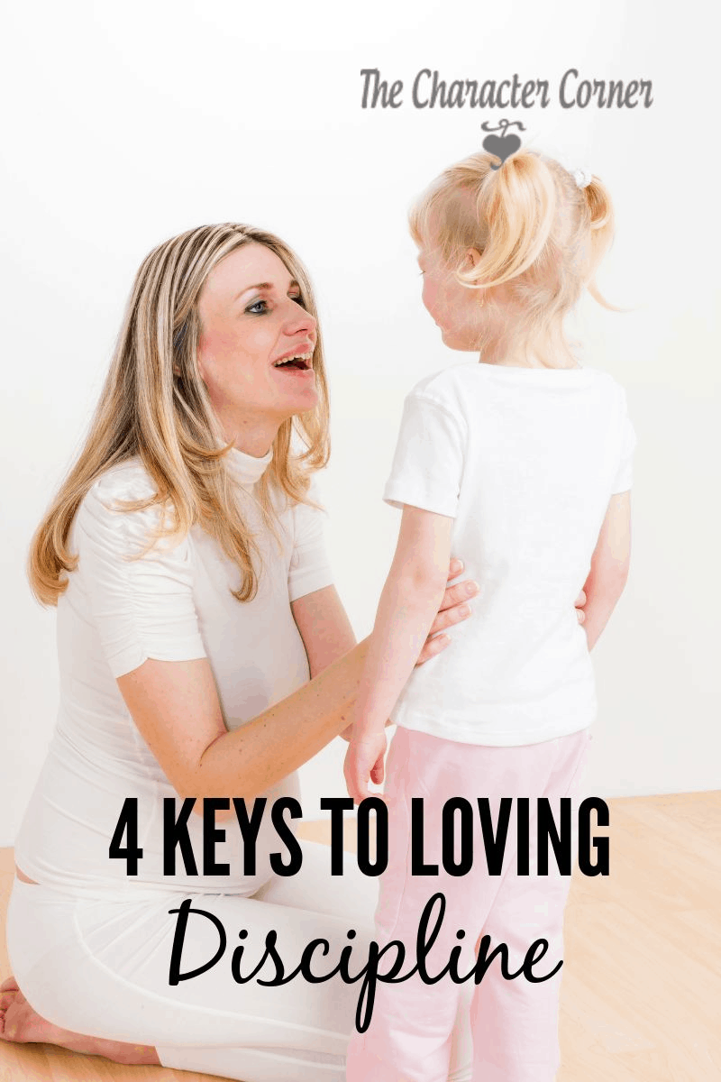 How to  use loving discipline with your child, and use it as an opportunity to point them to God's Word.