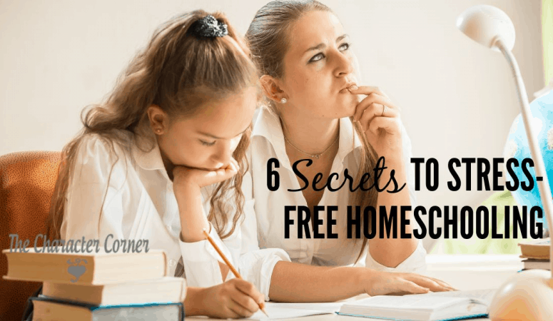 6 Secrets to STRESS FREE Homeschooling