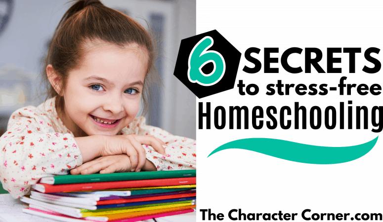 6 Secrets to STRESS FREE Homeschooling