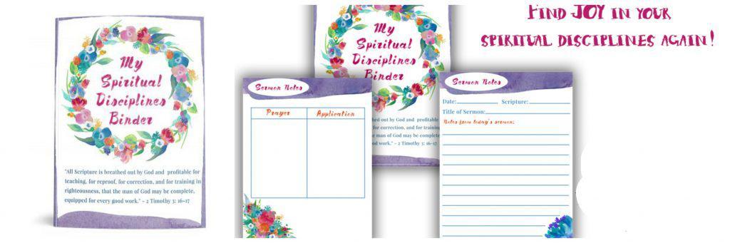 Spiritual disciplines binder