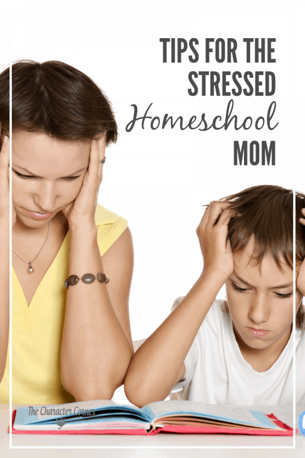 stressed homeschool mom
