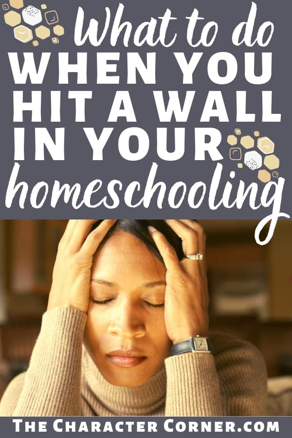 stressed out homeschool mom hit a wall
