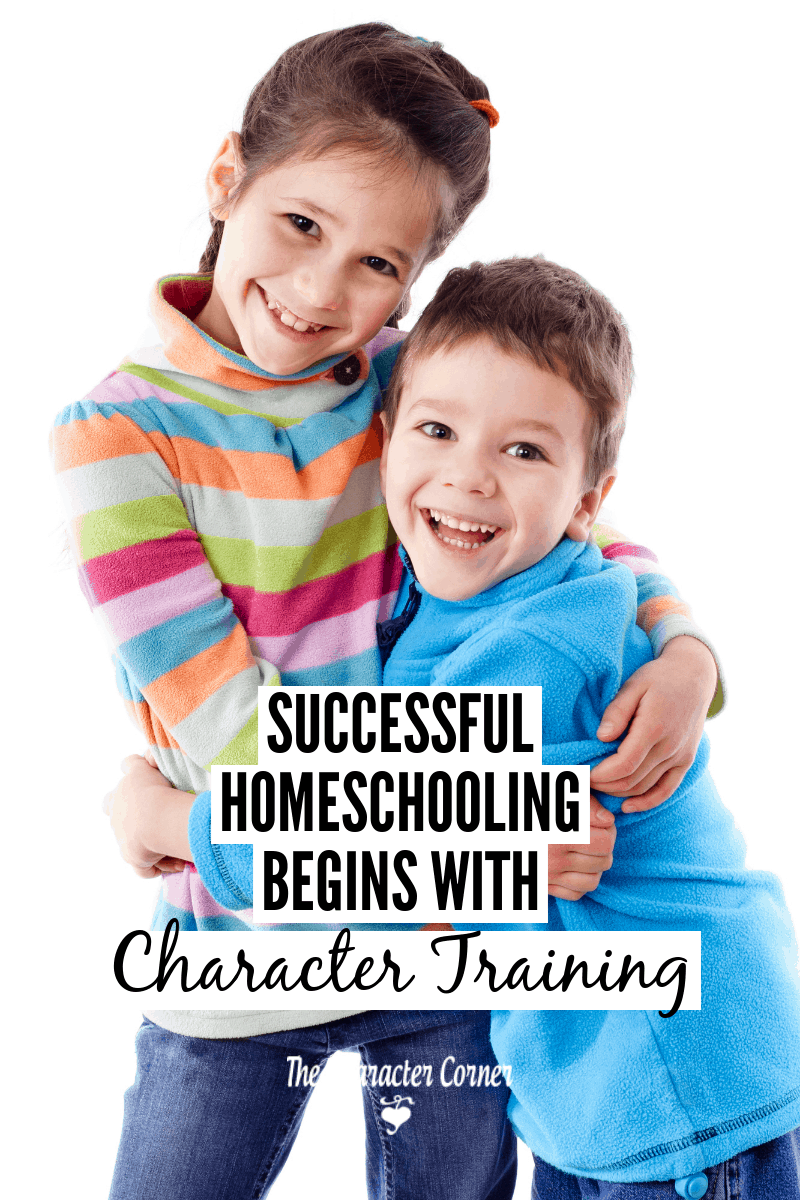 homeschooling begins with character training