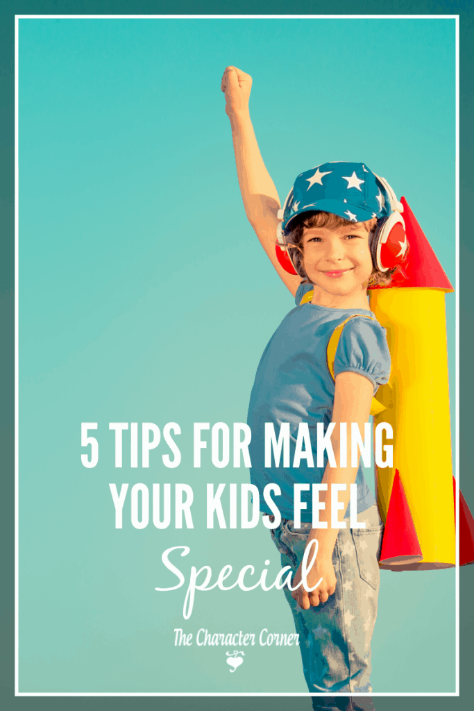 making your kids feel special